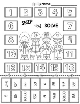2nd & 3rd Grade Problem Solving: Labor Day Community