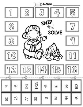 2nd & 3rd Grade Problem Solving: Camping Edition by
