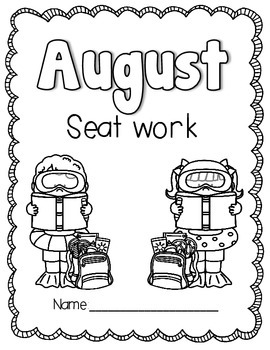 2nd Grade August Morning Seat Work- Common Core Aligned by