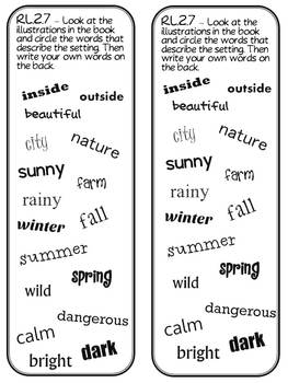 2nd Grade Common Core Reading Bookmarks by The Teacher