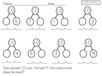 Second Grade Common Core Unit 1 Bundle by Second Grade