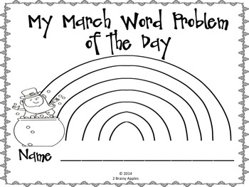 Word Problems 2nd Grade, March, Spiral Review, Distance