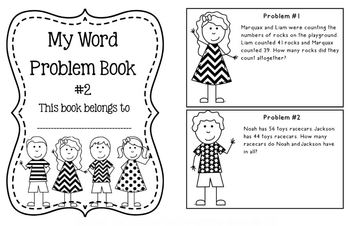 2nd Grade Daily Word Problem Book & Cards 2.OA.1, 2.NBT.5