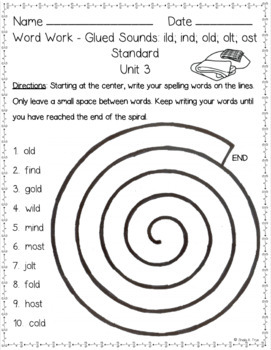 2nd Grade FUNdamentally Differentiated Spelling Lists w