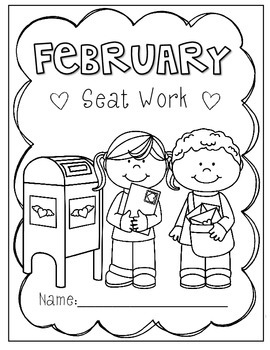 2nd Grade February Morning Seat Work- FREEBIE by Mr and