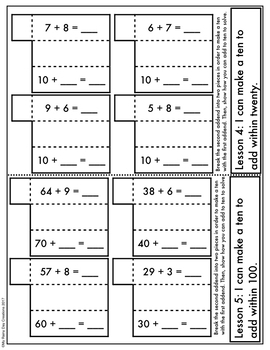 Engage New York Math Aligned Interactive Notebook: Grade 2, Module 1