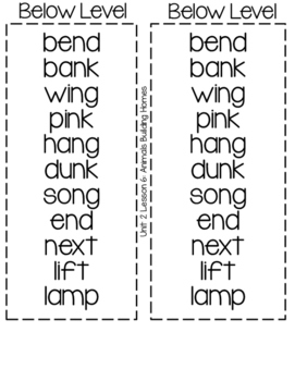 2nd Grade Journeys: Differentiated Spelling Lists for Unit