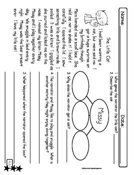 2nd Grade Leveled Reading Passages CCSS {RL.1, RL.2, RL.3