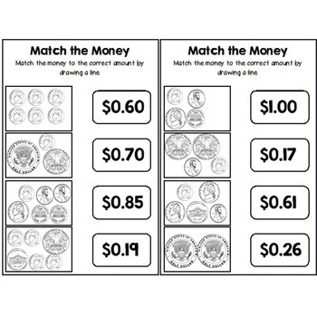 Second Grade Guided Math Journals Money by Teach With