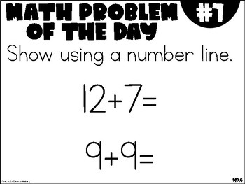 2nd Grade Math Problem of the Day (1st Nine Weeks) by