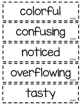 2nd Grade McGraw-Hill Wonders Oral Vocabulary Word Cards