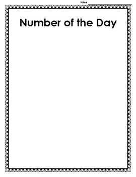 2nd Grade Number of the Day **SPIRAL REVIEW** by Nelson