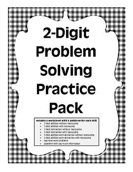 2nd Grade Problem Solving Practice Pack by Crocker's