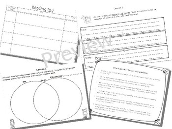 2nd Grade Reading Log with Journeys Comprehension by