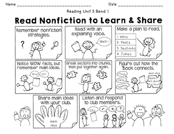 2nd Grade Reading Nonfiction Book Clubs Charts & Teaching
