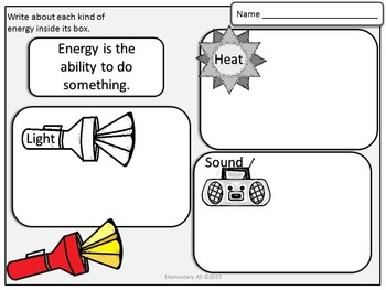 2nd Grade Science and Literacy: All About Energy (TEKS