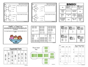2nd Grade Unit 1 Numeracy Activities and Assessments-TEKS