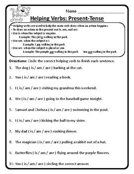 Helping Verbs Worksheets Verbs 2nd Grade Wonders Unit 4