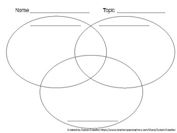 3 circle venn diagram graphic organizer 2003 harley davidson softail wiring compare and contrast by dubois doodles tpt