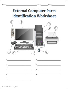 Computer Parts Worksheets Reviewed by Teachers