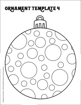 CHRISTMAS Crafts & Activities: 19 Ornament Templates for
