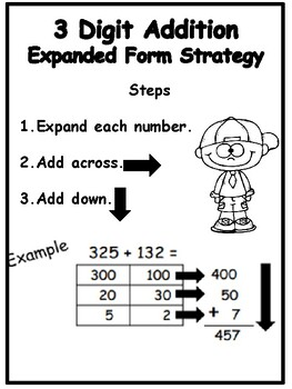 3 Digit Addition Expanded Form Strategy by Meaningful