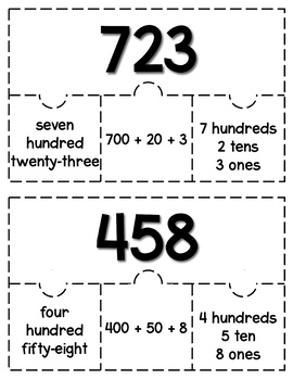 3 Digit Puzzles: A Place Value Game by Sunshine and Second