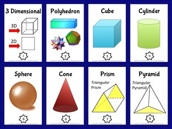3D Shapes Vocabulary Trading Card Games And Activities By Mr Elementary