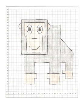 Coordinate Graphing Pictures: a Lion, a Gorilla, and a