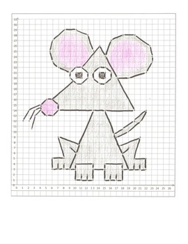 Coordinate Graphing Animal Pictures: A Mouse, a Dog, & a