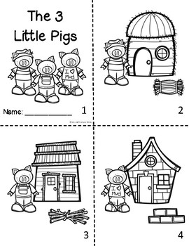 3 Little Pigs Sequencing Mini-Booklet by Ms Mal's