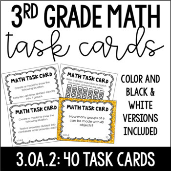 3.OA.2 3rd Grade Math Task Cards (Division) by Jennifer
