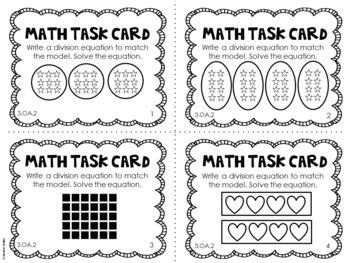 3.OA.2 3rd Grade Math Task Cards (Division) by Jennifer