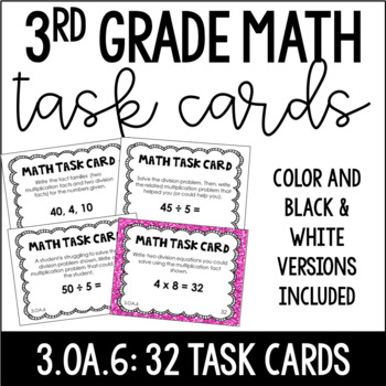 3.OA.6 3rd Grade Math Task Cards (Division as Unknown
