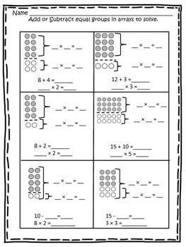 3OAB5 Distributive Property with Arrays and Tape Diagrams by kindertrips
