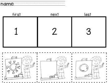 3-Step Sequencing Activities for Preschool by Purple