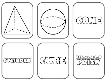 3D Shape Matching Cards {Pictures, Attributes, & Name of
