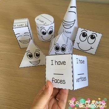 3D Shape Nets Cute Buddies By Stay Classy Classrooms TpT