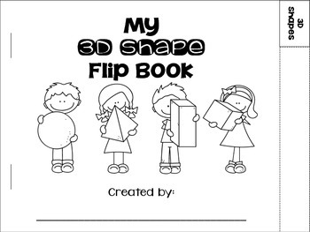 3D Shapes Flip Book {sphere, cube, rectangular prism