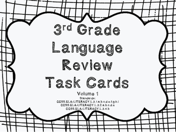 3rd Grade Common Core Language Review Bundle (4 task card