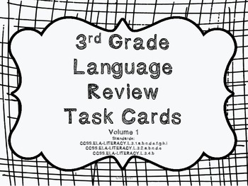 3rd Grade Common Core Language Review Set 1 Test Prep by