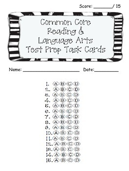 3rd Grade Common Core Reading/LA Standarized Test Prep