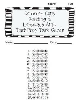 3rd Grade Common Core Reading/LA Standarized Test Prep