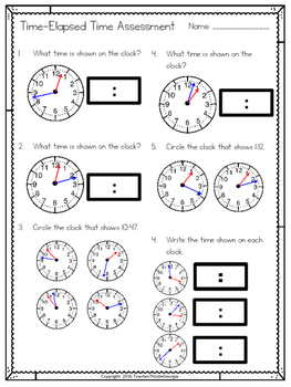 3rd Grade Common Core- Telling Time-Elapsed Time Unit
