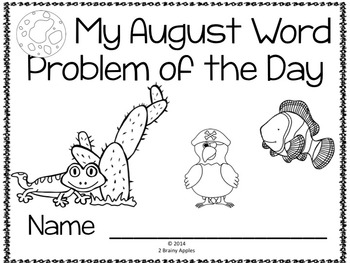 Word Problems 3rd Grade, August by Heather LeBlanc