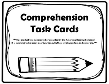 3rd Grade Comprehension Task Cards Aligned to the American