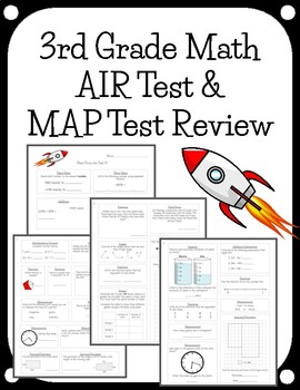 3rd Grade Math Air Test and MAP Test Review by Emily Bosl