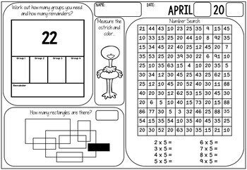 3rd Grade Morning Work (No Prep) April by Miss Rainbow