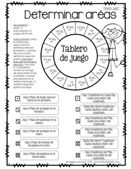 3rd Grade Math STAAR Prep: 14 SPANISH No Prep Games by