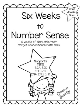 3rd Grade Math: Six Weeks to Number Sense: TEKS 3.2A,3.2D